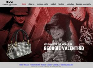 Showcase: Georgie Valentino - Corporate Web Site - Leatherware in Malaysia