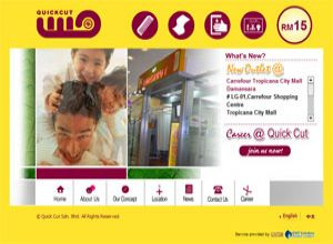 Showcase: Quick Cut - Corporate Web Site - Malaysia Haircut Salon