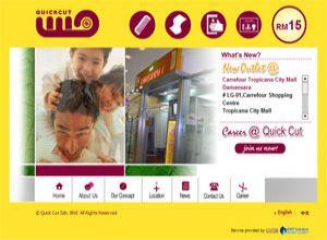 Showcase: Quick Cut - Corporate Web Site - Malaysia Haircut Salon