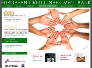 Showcase: ECIB - European Credit Investment Bank - Licensed Offshore Bank, Financial Solutions