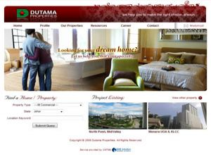 Showcase: Dutama Properties - Property Web Site - Real Estate Agent Properties in Malaysia