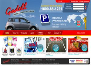 Showcase: Godell Monthly Parking Pass - E-Commerce Web Site - Malaysia Parking Management