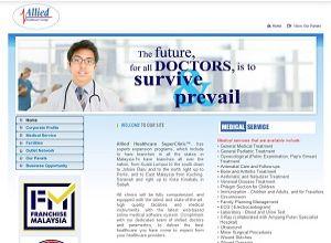 Showcase: Allied Healthcare - Clinic Web Site - Healthcare Medical Clinic Chain Malaysia