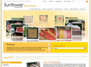 Showcase: Sunflower International - E-Commerce Web Site - Wedding & Greeting Cards, Wedding Assy, Gift Packaging in Malaysia