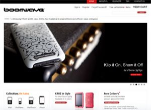 Showcase: Boomwave International Apple Accessories Store - E-Commerce Web Site - Apple iPad, iPhone 4|3GS|3G, iPod cases & accessories and all range of iPod Nano cases