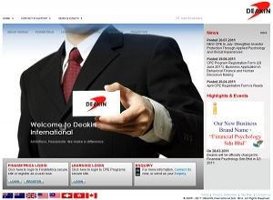 Showcase: DEAKIN International - Corporate Web Site - Financial Psychology and Behavioural Finance in Malaysia