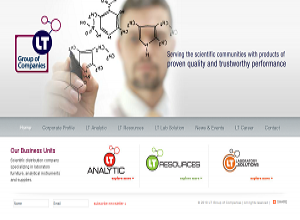 Showcase: LT Group of Companies - Corporate Web Site - Scientific Distribution Company in Malaysia