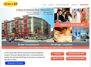 Showcase: Seria 88 - Property Web Site - Commercial Centre in the heart of Bandar Setia Alam Malaysia