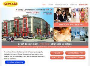 Showcase: Seria 88 - Property Web Site - Commercial Centre in the heart of Bandar Setia Alam Malaysia
