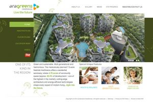 Showcase: AraGreens Residences - Property Web Site - Freehold Property Located Well Planned Ara Damansara Township