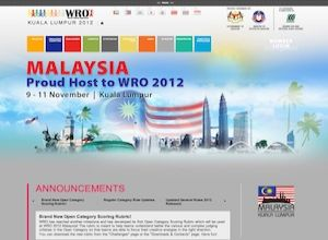 Showcase: World Robot Olympiad 2012 - Project Web Site - WRO Worldwide Robotics Competition Malaysia