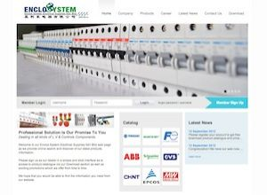 Showcase: Enclos System Electrical Supplies - Corporate Web Site - Switchboard Automation Solution Malaysia