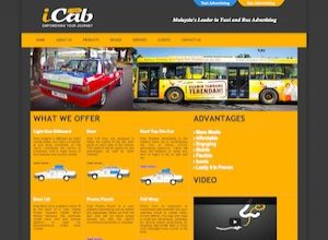 Showcase: iCab - Advertising Web Site - Taxi Advertising Malaysia Bus Advertising