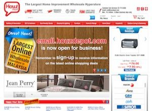 Showcase: Houz Depot Emall - E-Commerce Web Site - Online Shopping The Largest Home Improvement Wholesale Hyperstore Malaysia