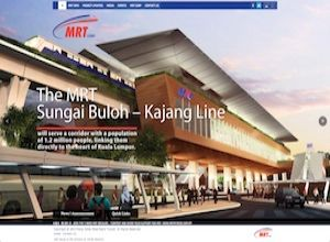 Showcase: MRT Corp - Corporate Web Site - Malaysia's First Mass Rapid Transit Project - Sungai Buloh - Kajang Line