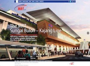 Showcase: MRT Corp - Corporate Web Site - Malaysia's First Mass Rapid Transit Project - Sungai Buloh - Kajang Line