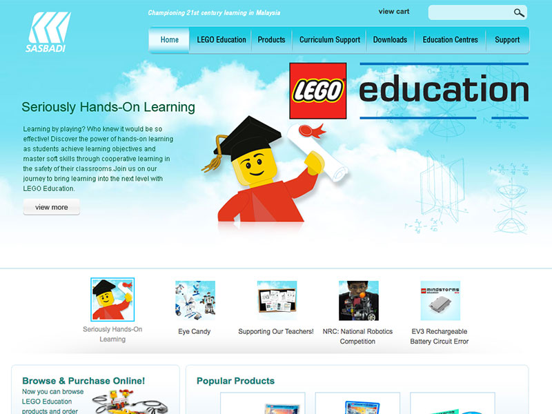 Web Design and CMS - LEGO Education - Championing 21st century learning in Malaysia