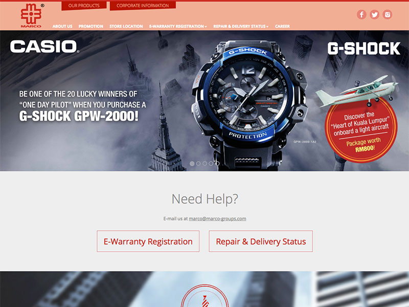 Content Management System : Marco Group Malaysia