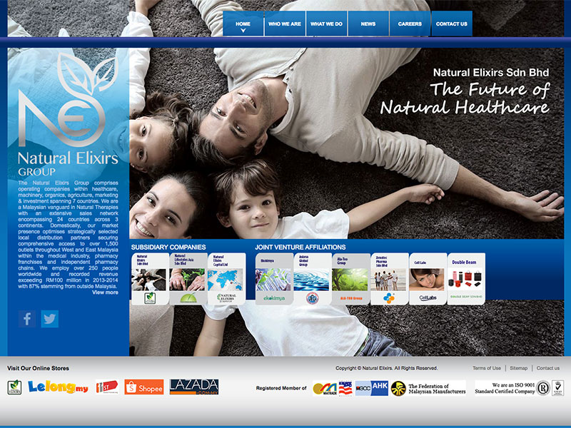 Web Design and CMS - Natural Elixirs - Malaysia Pioneer Natural Herbal Company